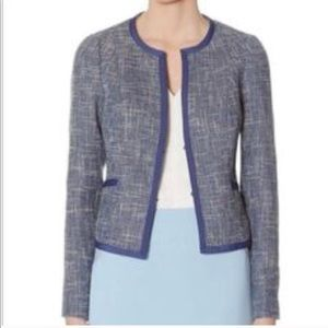 The Limited blue tweed blazer